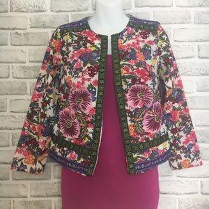 Floral Print Embroidered Jacket